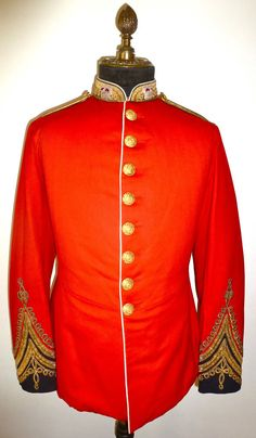 1868 PATTERN TUNIC BELONGING TO A LIEUTENANT-COLONEL OF THE MADRAS STAFF CORPS