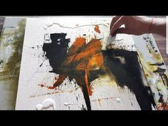 Abstract painting / EASY abstract painting Demonstration in acrylics | Cantinho do Video