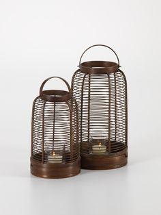 Jaya Bamboo Lantern Interior Lighting, Lighting Design, Floor Lanterns, Floor Lamps, Cheap Rustic Decor, Asian Home Decor, Garden Lamps, Light Decorations, Decorative Accessories
