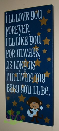 I love this quote and definitely want to do something like this for the munchkins room.