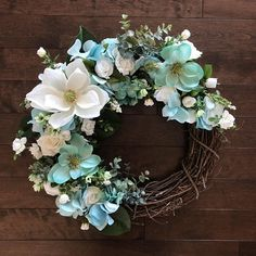 Magnolia Wreaths for Front Door, Southern Wreath, Front Door Wreaths, Spring Wreath, Farmhouse Wreath, Elegant Wreath, Spring Door Wreath