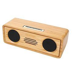 Sengu SG-S812-N Handmade Bamboo Portable Multimedia Wireless Bluetooth Speakers