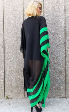 Items similar to Formal Dress for Women Summer Evening Dress One Drop Shoulder Sleeve Dress Cocktail Dress Party Wear Chiffon Dress for XL on Etsy Formal Dresses For Women, Simple Dresses, Dresses With Sleeves, Dress First, The Dress, Striped Party Dresses, Feather Dress, Chiffon Maxi Dress, African Dress