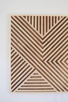 wood wall art diy how to make ; Wood Wall Decor, Modern Wall Decor, Wooden Wall Art, Wood Wall Design, Art Diy, Diy Wall Art, Decoration, Art Decor, Reclaimed Wood Art