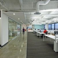 open office open ceiling ideas at DuckDuckGo Corporate Office Design, Modern Office Design, Corporate Interiors, Contemporary Office, Office Interior Design, Office Interiors, Office Designs, Modern Offices, Office Ideas