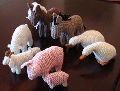 knitted animals from Natural Suburbia