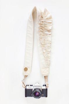 Handmade camera straps - ruffles!