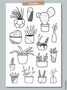 Specializes in clear stamps, stencils and stickers. March Bullet Journal, Bullet Journal Notebook, Bullet Journal Ideas Pages, Bullet Journal Inspiration, Journal Themes, Doodle Drawings, Easy Drawings, Easy Doodle Art, Doodle Art Journals