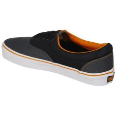 Vans ERA Canvas Trainer - Dark Shaddow/ Sun Orange ❤ liked on Polyvore