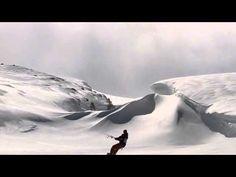 video kite boarding + snow -