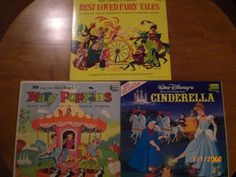 3 Childrens Disneyland LPs Best Loved Fairy Tales Cinderella and Mary Poppins Classicsncollectiblesbycheryl.com