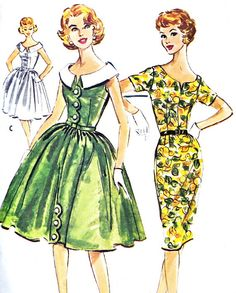 1950s Dress Pattern McCalls 5039 Day or Evening by paneenjerez, $30.00