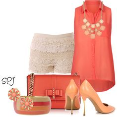 """Just Peachy"" by s-p-j on Polyvore"
