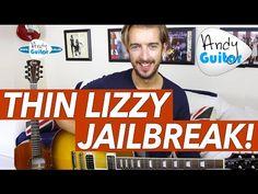 Thin Lizzy - JAILBREAK Guitar Lesson Tutorial - Easy Power chord song! - YouTube