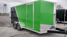 arctic green and black 2 tone enclosed trailer 7 x 16 . great for an arctic cat or Kawasaki
