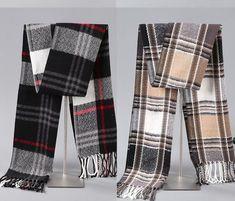 Lot of 2 Wool Male Geometric Scarf Winter Warm Spring Scarves Shawl Female Male #Unbranded #Scarf