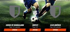 Pronosticos y cuotas para el partido entre Chivas Guadalajara vs Club Américadel 28/11. Mas info en http://ift.tt/2fwkFrc #EnVivo #LigaMX