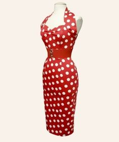 Halterneck Pencil Dresses from Vivien of Holloway 1950s