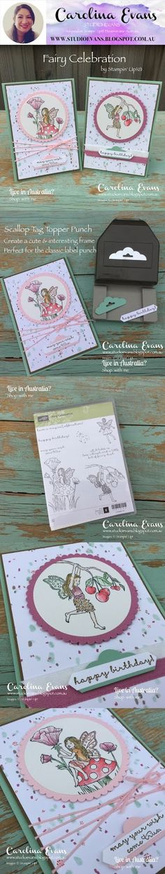 Fairy Celebration | Carolina Evans - Stampin' Up! Demonstrator Melbourne Australia #carolinaevans #studioevans #stampinup #annualcatalogue2017 #annualcatalog2017 #fairycelebration #wwys113
