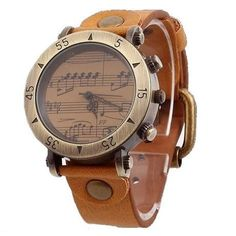 Genuine Leather Piano Melody Watch Retro Watches, Quartz, Vintage Fashion, Piano, Watch Women, Stuff To Buy, Accessories, Leather, Collections