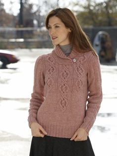 Fading Cables Pullover | Yarn | Free Knitting Patterns | Crochet Patterns | Yarnspirations