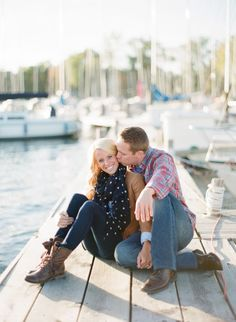 Engagement Photos Inspired by This Fashionable Nautical Engagement Engagement Photo Poses, Engagement Outfits, Engagement Inspiration, Engagement Pictures, Wedding Pictures, Wedding Inspiration, Nautical Engagement, Fall Engagement, Engagement Couple