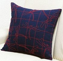 Sashiko Dragonfly Pillow Kit