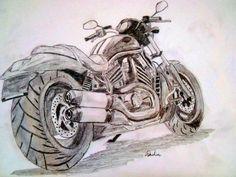 harley davidson v-rod sketch by artistSAC.deviantart.com on @DeviantArt