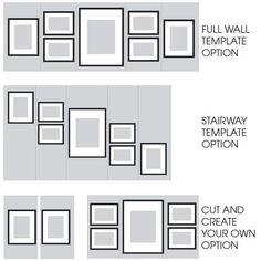 Gallery Perfect 7 Piece Black Photo Frame Wall Gallery Kit with Decorative Art Prints & Hanging Template Photo Wall Decor, Family Wall Decor, Room Wall Decor, Wall Art Bedroom, Office Wall Decor, Gallery Wall Layout, Gallery Wall Frames, Frames On Wall, Photo Wall Layout