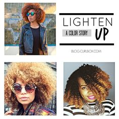 Lighten Up: A Color Story - http://blog.curlbox.com/2014/10/28/lighten-up-a-color-story/