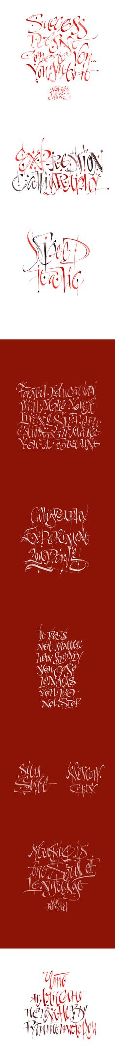 Expression Calligraphy_experiment on Behance