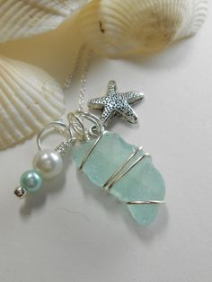 Ariel Genuine Sea Glass Jewelry Seaglass by SeaFindDesigns,