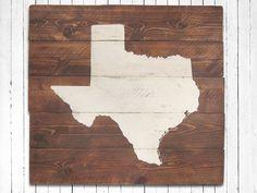 rustic texas wall art state sign home decor map art wedding u0026 house warming gift