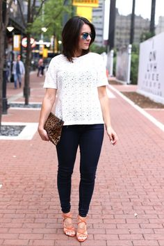 Lace Top and Ray Ban