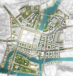 Masterplan - urban regeneration - 2nd Place at the International Urban Design Competition of Kaliningrad Heart of City. Off-The-Grid / Devillers / Wall / 2pm Architecture