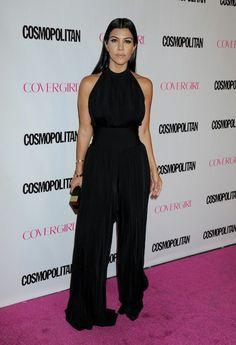 Kourtney Kardashian <3 !  Kourtney's high neck jumpsuit from Balmain