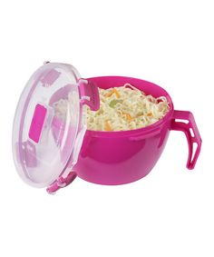 Love this Pink Noodles-to-Go Bowl by Sistema on #zulily! #zulilyfinds