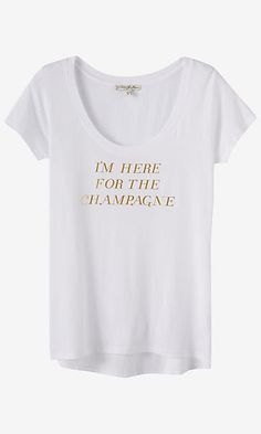 express one eleven champagne graphic t-shirt