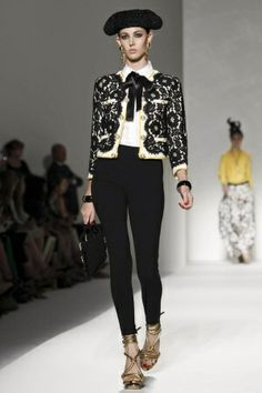 Bullfighter Costume Inspired on Catwalk of MOSCHINO Spring Summer 2012 Collection.