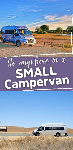 For RVers that want all the most important comforts of home, but also the freedom to travel and stay almost anywhere. Small RV camper vans | RV campervans | Best small camper vans | Camper van RVs | Small campers | Small RVs | Small camper RVs Small Rv Campers, Small Camper Vans, Best Small Rv, Airstream Interstate, Airstream Campers, Conversion Van, Adventure Campers, Buying An Rv, Campervan