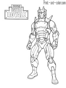 76 Best FORTNITE COLORING PAGES