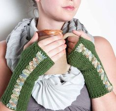 Knit Fingerless Gloves Knit Gloves Knit Arm Warmers Knit Fingerless Mittens Knit Wrist Warmers Gauntlets Knit Hand Warmers Green by Nothingbutstring on Etsy https://www.etsy.com/listing/206582292/knit-fingerless-gloves-knit-gloves-knit