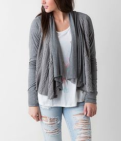 e9876eebe8 BKE Pieced Cardigan Cardigan Sweaters For Women