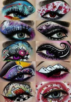 Creative eye makeup- Possibilities for Personality Infused Mixed media project. .