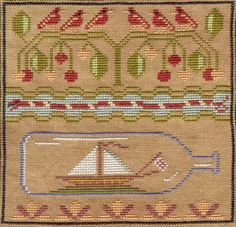 Shores of Hawk Run Hollow (Carriage House Samplings) Cross Stitch House, Carriage House, Filet Crochet, Cross Stitching, Needlepoint, Needlework, Eve, Stitches, Nautical