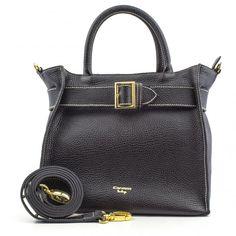 Bag / bolsas Bolsa de mão Bolsa de couro eloa carmim preto - Carmim Store