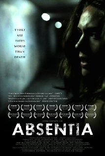 Theatrical poster for Absentia. Check out my movie review for Absentia (2011) at the link.