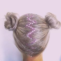 glitter roots for crazy hair day Hair Inspo, Hair Inspiration, Glitter Roots, Crazy Hair Days, Maquillage Halloween, Hair Dos, Pretty Hairstyles, Hairstyle Ideas, Dyed Hair