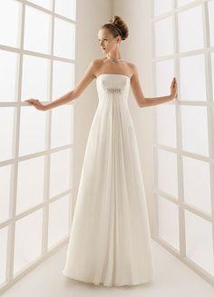 Strapless Empire Slim A line Skirt 2010 Top Seller Elegant Bridal Dress WD-0215