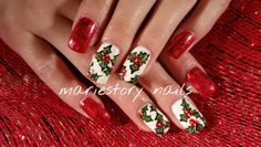 Holiday nails ! By @ mariestory nails
